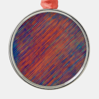 Bold Graphic with Calming Effect Metal Ornament