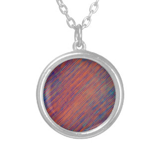 Bold Graphic with Calming Effect Silver Plated Necklace