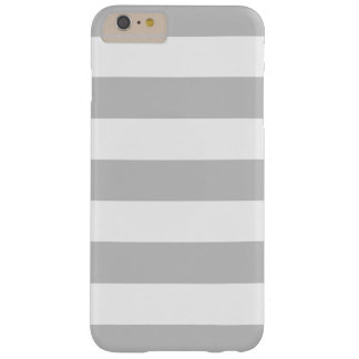 Bold Gray and White Stripes Pattern Barely There iPhone 6 Plus Case