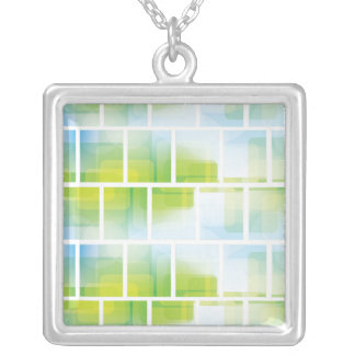 Bold Green Graphic Necklace