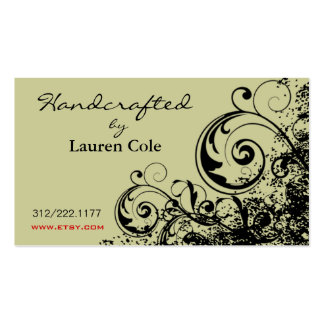 Bold Grunge Curls Handcrafted by custom crafts Business Cards