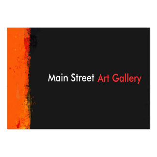Bold Grunge Paint Splashes Abstract Art Gallery Pack Of Chubby Business Cards