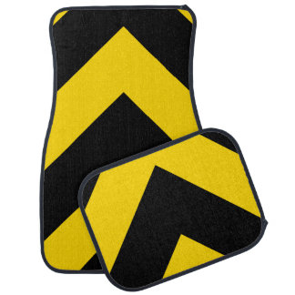 Bold Highway Traffic Bumble Bee Chevrons Car Mat