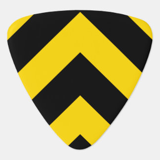 Bold Highway Traffic Bumble Bee Chevrons Plectrum