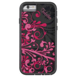Bold Hot Pink Black Elegant Floral iPhone 6 case T