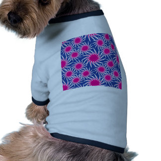 Bold Hot Pink Blue Spiraling Wheels Funky Pattern Pet T Shirt