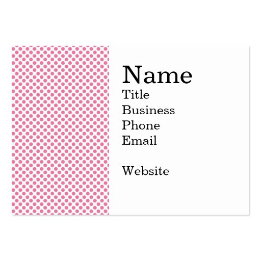 Bold Hot Pink Dot Pattern Business Card