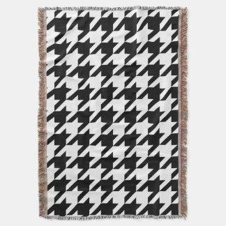 Bold Houndstooth Pattern Throw Blanket