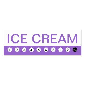 bold ICE CREAM customer loyalty Business Card Templates