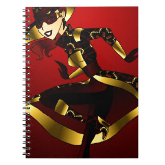 Bold In Red and Gold Notebook