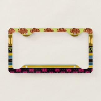 Bold Jacaranda Tribal Pattern License Plate Frame