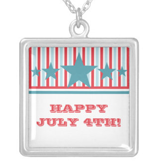 Bold July 4th Stars and Stripes Necklace