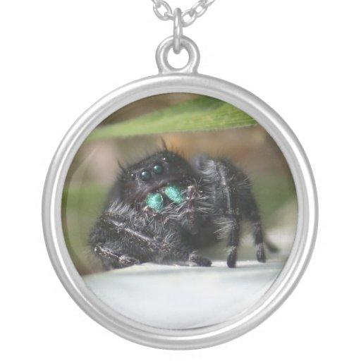 Bold Jumper Spider Necklace