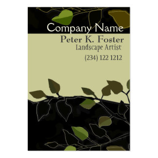 Bold Landscaping Forest-Geen Pack Of Chubby Business Cards