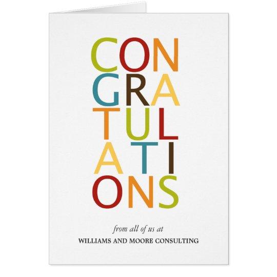 Bold Letters Congratulation Cards