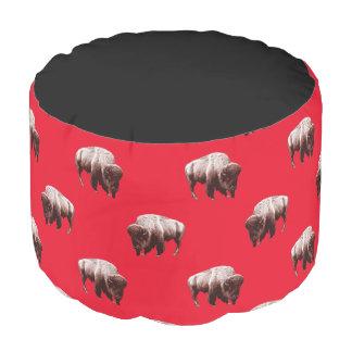 Bold Life Buffalo Herd Pouf