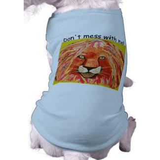 Bold Lion Doggie Ribbed Tank Top Sleeveless Dog Shirt