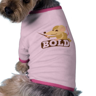 Bold little mouse doggie tee