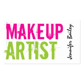 Bold Makeup Artist Business Cards