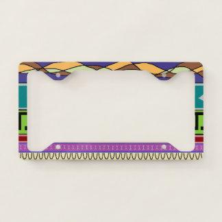 Bold Mapocho Tribal Pattern License Plate Frame