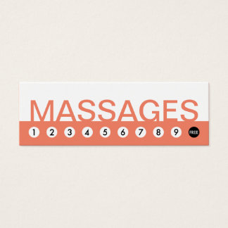 bold MASSAGES customer loyalty Mini Business Card