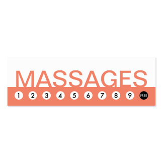 bold MASSAGES customer loyalty Pack Of Skinny Business Cards