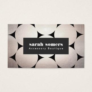 Bold Modern Fashion and Beauty Circle Pattern Business Card