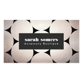 Bold Modern Fashion and Beauty Circle Pattern Pack Of Standard Business Cards