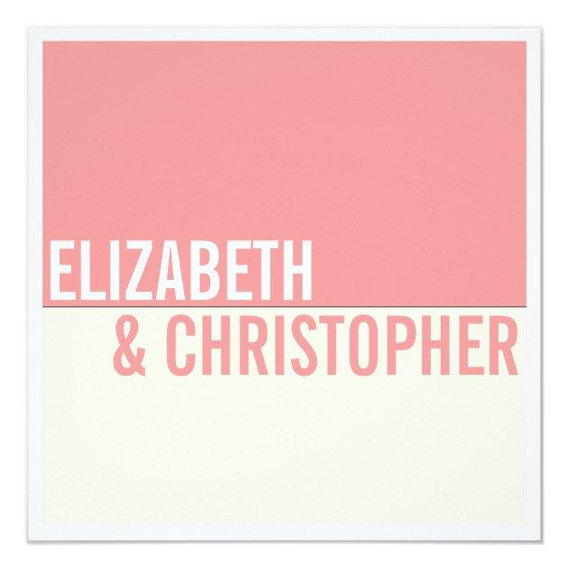 Bold Modern Graphic Block Wedding Invitation | Zazzle