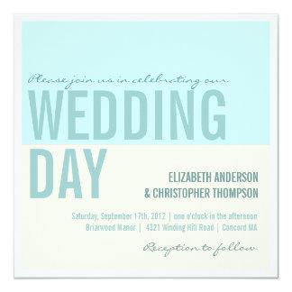 Bold Modern Graphic Block Wedding Invitations