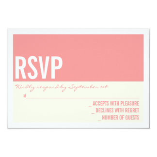 Bold Modern Graphic Block Wedding RSVP Card 9 Cm X 13 Cm Invitation Card