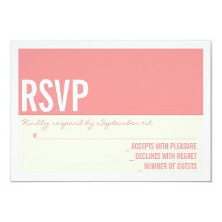 "Bold Modern Graphic Block Wedding RSVP Card 3.5"" X 5"" Invitation Card"
