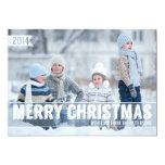 Bold Modern Merry Christmas Big Photo Card 13 Cm X 18 Cm Invitation Card