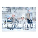Bold Modern Merry Christmas Big Photo Card 13 Cm X 18 Cm Invitation Card