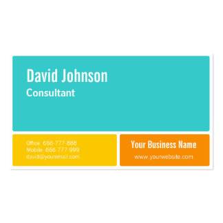 Bold Modern Minimalist Business Cards