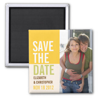 Bold Modern Save the Date Announcement Magnet