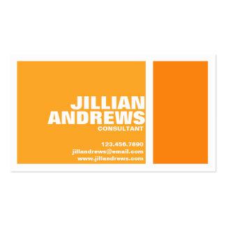 Bold Modern Split Box - Orange Pack Of Standard Business Cards