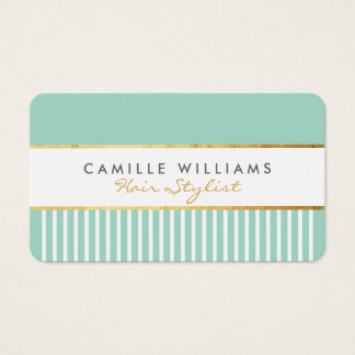 BOLD modern stylish comb design gold mint green