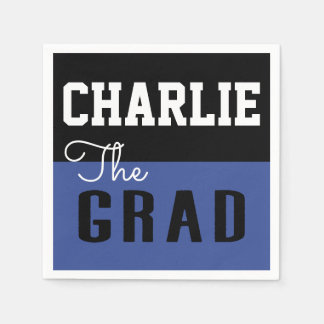 Bold Modern Typography Graduation Grad Disposable Serviette