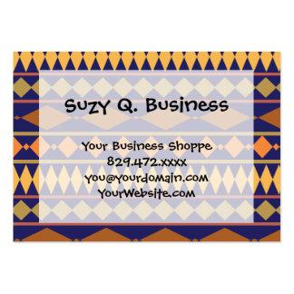 Bold Navy Rust Geometric Tribal Pattern Business Card Template