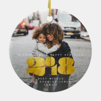 BOLD NEW YEAR(GOLD) CERAMIC ORNAMENT
