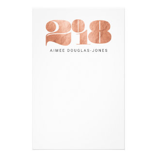 BOLD NEW YEAR(ROSE GOLD) STATIONERY