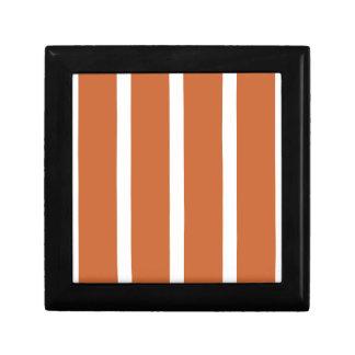 Bold Orange Stripes Gift Box