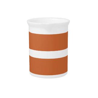 Bold Orange Stripes Pitcher