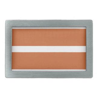 Bold Orange Stripes Rectangular Belt Buckles