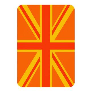 Bold Orange Union Jack British Flag Swag Card