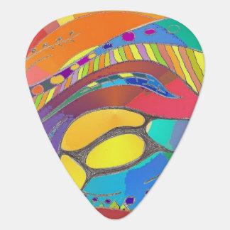 Bold Organic Design Guitar Picks Bright Blue Back Plectrum