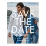 Bold Overlay Save The Date Postcard
