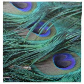 bold peafowl eyes printed napkin