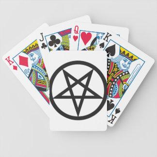 Bold Pentagram Bicycle Playing Cards